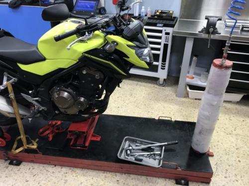 Honda CB500F Mejora suspensión delantera